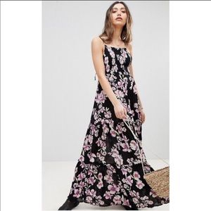 NWT Free People Garden Party Black Floral Dress